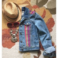 "Jean Jacket This jean jacket is just great. It's a size small length is 18"", pit to pit 19"". It's in great condition. It's light weight and a perfect way to add a little bohemian style into your wardrobe. Hot Kiss Jackets & Coats Jean Jackets"