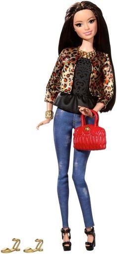 Barbie Style Raquelle Doll, Leopard Print Jacket