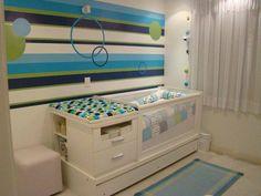 Quarto completo kit berço bi-cama com modulo para meninos