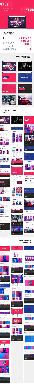 Venus - Creative and Bolder WordPress Theme by pixelburst | ThemeForest #ad