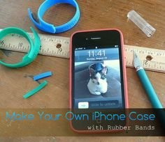 Make Your Own iPhone Case with Rubber Bands