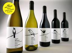 étiquette oiseaux pour bouteilles de vin