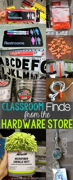 Classroom Finds From the Hardware Store - So clever!