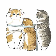 Unicornios Wallpaper, Cute Cat Wallpaper, Kittens Cutest, Cats And Kittens, Cute Cats, Kawaii Illustration, Cute Cartoon Wallpapers, Cat Drawing, Cat Tattoo