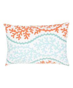 Another great find on #zulily! Blue & Orange Coastal Veranda Rectangle Throw Pillow - Set of Two by Jaipur Rugs #zulilyfinds