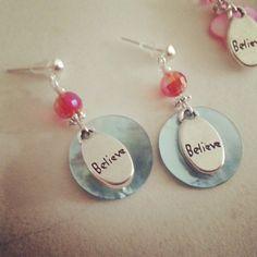 Believe earrings for Miss 10 by julietfieldew
