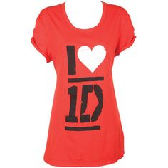 I Heart 1D Sleep Tee ($30) ❤ liked on Polyvore