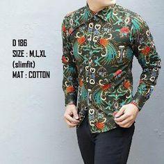 Dijual Baju Batik Pria Slim Fit Modern Lengan Panjang LB04 Murah