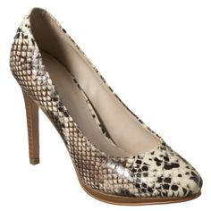 Versie Pumps in Faux Snakeskin by Mossimo at Target