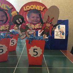 Looney Tune centerpieces...under $2.60 each!!