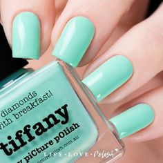 Picture Polish Tiffany is a pastel aquacreme. This nail polishis designed and made in Australia! Application: Opaque in 2-3 coats. Texture:This nail polish