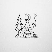 Sleep outside – Dessins Minimalistes - Hollowen Cute Easy Drawings, Small Drawings, Doodle Drawings, Doodle Art, Simple Doodles, Designs To Draw, Drawing Designs, Drawing Ideas, Drawing Tips