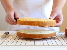How to cut a cake evenly into cake layers | completelydelicious.com