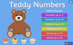 Learning to Count up to 15 with Teddy Numbers Interactive Maths Game Literacy Games, Number Activities, Vocabulary Games, Math Games, Learning Activities, Learning Numbers, Math Numbers, Counting Activities, Numeracy Activities