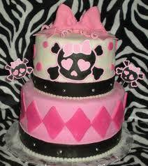 Pink skull baby shower