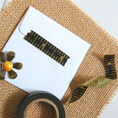 Black Tape Measure Washi Tape