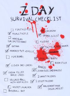 Z Day Survival Checklist T-Shirt