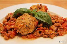 cookvalley - tanker om mad: Italienske kyllingedeller med sortøje-bønner, tomat og fennikel