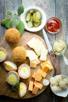 Traditional scotch eggs in sausage meat