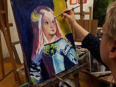 LAS MENINAS fragment Výtvarné kurzy VytFit- Zážitkové, tvorivo- experimentálne kurzy kreslenia, malovania a výtvarných techník.Príprava na prijímacie skúšky SŠ, VŠ- design, architektúra, animovaná tvorba Bratislava, Painting, Toddler Girls, Atelier, Painting Art, Paintings, Painted Canvas, Drawings