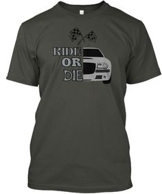 Ride Or Die Smoke Gray T-Shirt Front