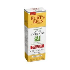 Burt's Bees Acne Maximum Strength Spot Treatment Cream - . oz (€7,98) ❤ liked on Polyvore featuring beauty products, skincare, face care, acne treatment, facial skin care, health and beauty, burt's bees, burts bees skincare, burts bees skin care and cream skin care