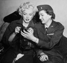 Marilyn in Korea in 1954