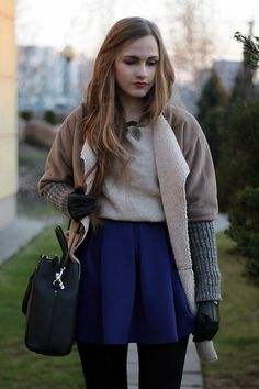Sheepskin coat (by Karolina Sabała) http://lookbook.nu/look/4379659-Sheepskin-coat