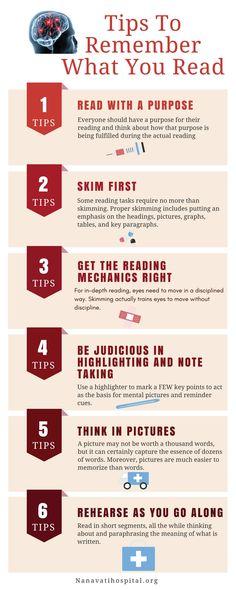 Tips to remember what you read #MindSharpning #Health #Nanavati #Neurosurgeon #Neurologist http://www.nanavatihospital.org/speciality/neuroscience http://www.nanavatihospital.org/doctor/ashutosh-n-shetty http://www.nanavatihospital.org/doctor/harshad-parekh