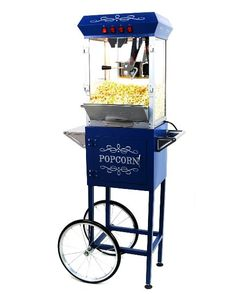 How cool is this? A popcorn cart with 6 color LED mood lighting and a remote.