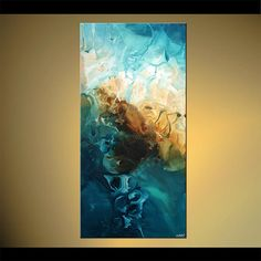 Blue Abstract Painting Original Modern Acrylic di OsnatFineArt
