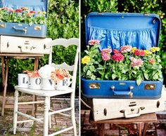 add a little colour to our stall?? Suitcases with style via Hostess with the Mostess
