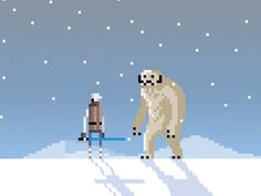 How can I not pin some Star Wars pixel art...? I only wish I had time to produce it too! :-(