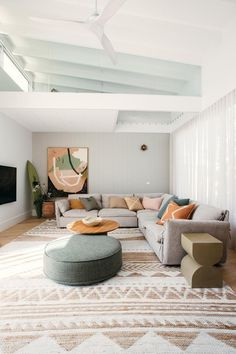 Boho Living Room, Living Room Modern, Interior Design Living Room, Home And Living, Living Spaces, Cozy Living, Living Room Next To Kitchen, Small Living, Living Room Empty