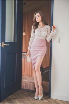 Beauty collection Waist Skirt, High Waisted Skirt, Basic Outfits, Chic, Pretty Girls, Asian, Skirts, Clothes, Beauty