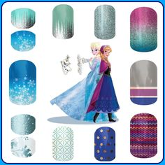 Who's dressing up as Elsa & Anna for Halloween! Make your costume extra special with Jamberry nail wraps! Order online/ Ships to you! www.lowery.jamberrynails.net