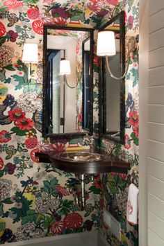 Portfolios - Dering Hall | powder room by Liz Caan