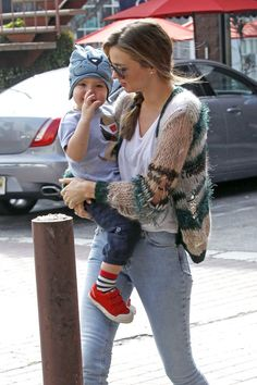 Miranda Kerr takes her son Flynn to a children's gym for some play time in Los