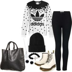 """Perrie inspired fall outfit with black beanie & jonis."" by lindskat on Polyvore"