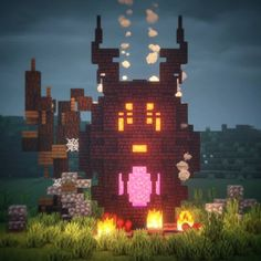 minecraft houses with nether portal Minecraft Portal, Minecraft Wall, Minecraft Banners, Minecraft Medieval, Cute Minecraft Houses, Minecraft Plans, Minecraft Survival, Minecraft Decorations, Minecraft Tutorial