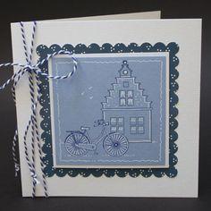 In dit blogbericht zie je wat Hollandse kaarten met stempelafdrukken. Deze keer in het blauw.