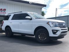 This 2019 Ford Expedition RWD is running Fuel Rebel 20 wheels Falken Wildpeak tires with ReadyLIFT Suspension Lift suspension. 20 Wheels, Wheels And Tires, Lincoln Aviator, Tyre Fitting, Ford Excursion, Aftermarket Wheels, Ford Expedition, 2019 Ford, Ford Transit