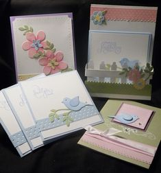 Stampin Up Bird Punch! -- these are great!  I've pinned so much of your stuff today - you've been a very busy lady Punch Art Cards, Animal Cards, Paper Cards, Scrapbook Cards, Scrapbooking, Cool Cards, Punch Punch, Bird Cards, Pretty Cards