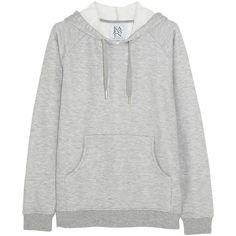 Zoe Karssen Jersey hooded sweatshirt ($73) ❤ liked on Polyvore featuring tops, hoodies, sweaters, sweatshirt, grey, grey hooded sweatshirt, hooded pullover, gray top, grey top and sweatshirt hoodies