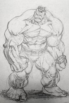 Hulk warm up sketch by Ryan Ottley! (Marvel comics)