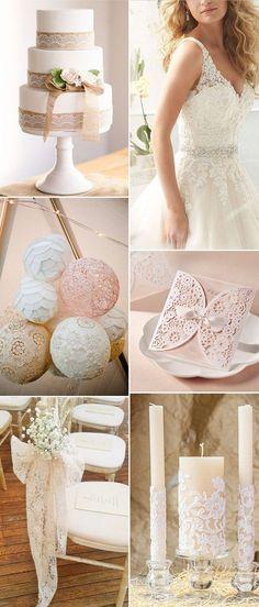 elegant lace wedding ideas for rustic weddings