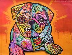 Sugar Pug Painting