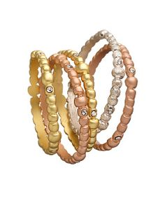 Indulgems Mixed-Metal Bubble Eternity Rings