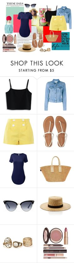 """Spring in to Summer"" by magicalalice ❤ liked on Polyvore featuring Chicwish, Acne Studios, Boutique Moschino, Aéropostale, Hermès, Gucci, Janessa Leone, Charlotte Tilbury and Miu Miu"