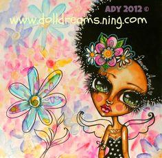 Flower angel, watercolors on watercolor paper.